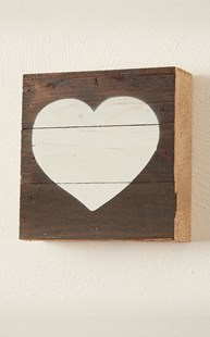 Fun-Stuff-Wall-Art |  | Second Nature by Hand Wall Art - Cream Heart