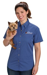 Workwear-Shirts-Button-Up-Shirts |  | Women's Stain Resistant Twill Shirt
