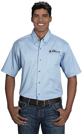 Men's Stain Resistant Twill Shirt Image