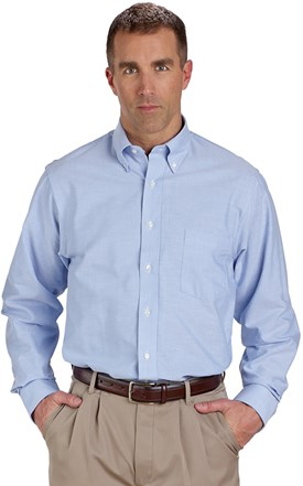 Van Heusen Men's Classic Long Sleeve Oxford Shirt Image