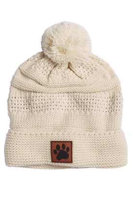 Cap America Knit Cap with Leather Paw Patch Image
