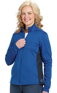 Casuals-Performance-Wear |  | Women's Colorblock Full Zip Jacket With Embroidered Paw at Hip