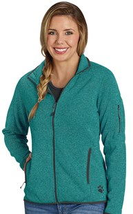 |  | Women's Sweater Knit Fleece Heather Jacket