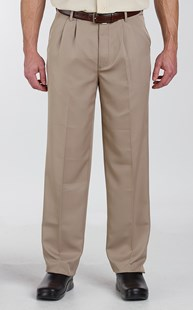 Casuals-Pants |  | Pleated Microfiber Dress Pant