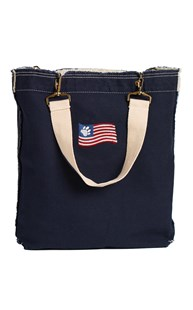 |  | Raw Edge Tote with Embroidered Flag