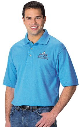 Men's Blended Pique Polo Image