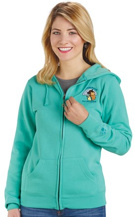 Full Zip Fleece Hoodie Sweatshirt Image