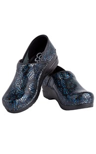 Footwear-Clogs |  | Sanita Clog Embossed Blue