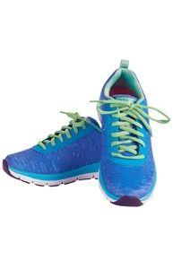 Shoes-Tennis-Shoes |  | Skechers Memory Foam Blue/Green Work Shoe