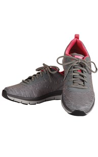 Shoes-Tennis-Shoes |  | Skechers Memory Foam Grey/Pink Work Shoe