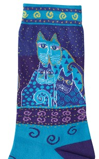 Shoes-Socks |  | Blue Felines Socks