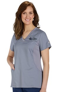 Scrubs-Premium-Allure |  | Allure Knit Side Solid Top with Paw