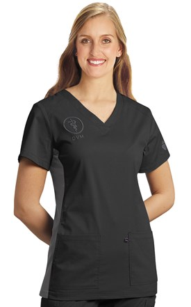 Allure Contrast Knit Side Scrub Top Image