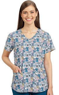 Scrubs-Animal-Prints |  | Skechers Print Scrub Top - Happy Dogs