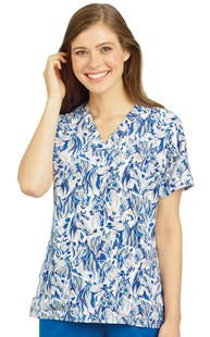 Scrubs-Animal-Prints |  | Carhartt Print Scrub Top Blue River Beauty