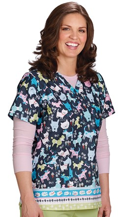 Petopia Two Pocket Scrub Top Image