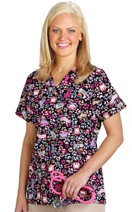 Clearance-Scrubs |  | Veterinary Care Two Pocket Scrub Top
