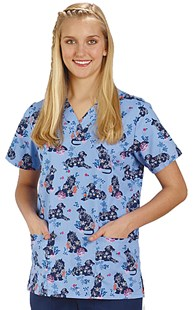 Clearance-Scrubs |  | Silhouette Pet Two Pocket Scrub Top
