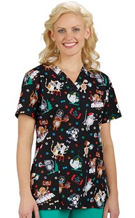 Scrubs-VAC-Exclusives-Economy-Animal-Prints |  | Scrub Selfie Two Pocket Scrub Print Top