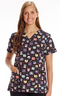 Scrubs-Animal-Prints |  | Premium Print Top Pets with Shades