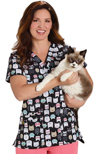 Scrubs-Premium-WonderWink-4-Way-Stretch |  | WonderWink 4-Way Stretch Animal Print Feline Friendly