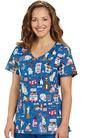 Two Pocket Scrub Top Unconditional Love Image