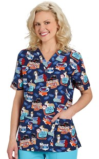 Scrubs-VAC-Exclusives-Animal-Print-Tops |  | Two Pocket Scrub Top Ruff Terrain