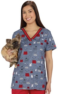 Clearance-Scrubs |  | Bone Appetit Two Pocket Scrub Top