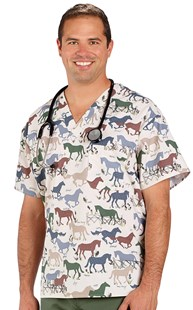 Clearance-Scrubs |  | Equine Friends UNISEX One Pocket Scrub Top