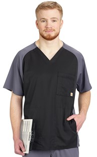 Scrubs-Premium-Carhartt |  | Carhartt Men's Two-Tone Scrub Top