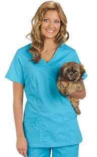 |  | Cherokee Core Stretch Mock Wrap Scrub Top