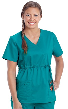 Cherokee Core Stretch Elastic Waist Scrub Top Image