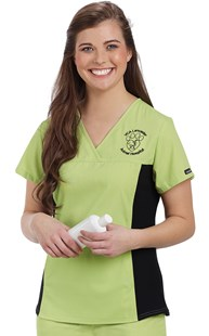 Scrubs-Premium-Cherokee-Flexibles |  | Cherokee Flexibles Contrast Side Knit Scrub Top