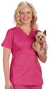 |  | Cherokee LUXE Mock Wrap Scrub Top