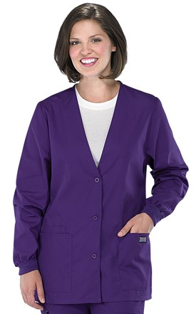 Cherokee Workwear V-Neck Cardigan Scrub Warm-Up Image