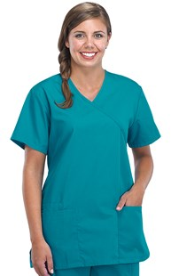 Scrubs-Classic-Cherokee-Workwear |  | Cherokee Workwear Mock Wrap Tunic Scrub Top