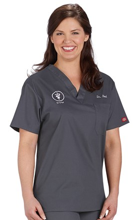 Dickies EDS UNISEX One Pocket Scrub Top Image