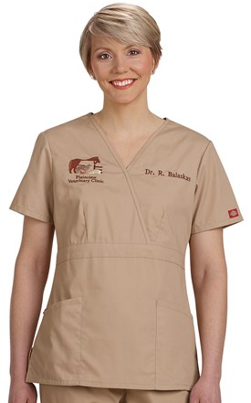 Dickies EDS Mock Wrap Scrub Top Image