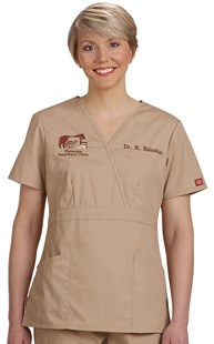 |  | Dickies EDS Mock Wrap Scrub Top