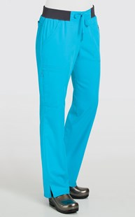 Scrubs-Premium-Dickies-Xtreme-Stretch |  | Dickies Xtreme Stretch PETITE Contrast Knit Waist Pant