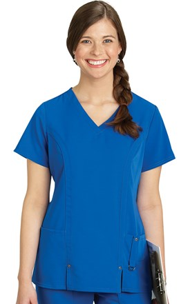 Dickies Xtreme Stretch Front Seam Wrap Scrub Top Image