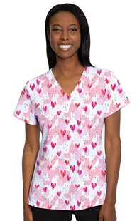 Fashion_Prints      Med Couture Print Top Happy Heart