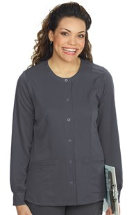 Scrubs-Classic-HH-Works |  | HH Works Snap Front Round Neck Warm-Up
