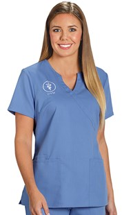 |  | Healing Hands Mock Crossover Scrub Top