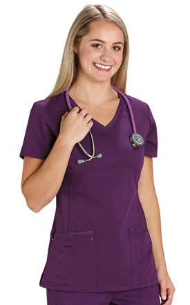 Healing Hands Fashion Yoga Scrub Top Image
