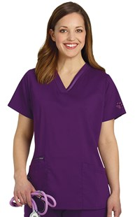 Scrubs-Premium-Healing-Hands | VAC Exclusive | V-Neck Paw Scrub Top