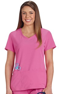 |  | Heartsoul Softened Neckline Scrub Top