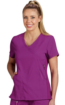Koi Lite Mock Wrap Sporty Scrub Top Image