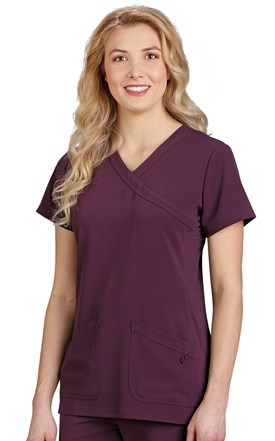 Marvella Crossover Side Stretch Scrub Top Image
