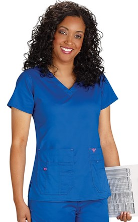Med Couture Flex-It Scrub Top Image